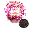 Ferns N Petals Purple Orchid N Cake Passion (MN-EXDFNP2042)