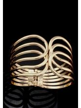 The Empress Golden Bracelet Cuff, Free, Gold