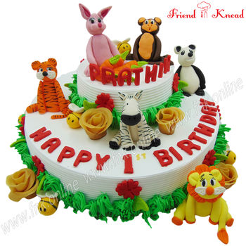 Zoo Theme Cake, select time, egg, 3 kg