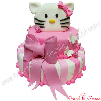 Kitty Theme Cake, egg, select time, 5 kg