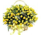 India Gifts Hub Yellow Roses Basket 50 Flowers (IGHFLOW051)