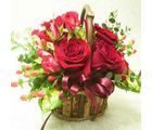 India Gifts Hub 12 Red Roses Basket (IGHFLOW018)