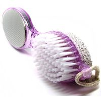 SuperDeals 4in1 Pedicure Tool Foot Scrubber Nail Brush File