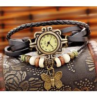 Vintage Style Brown Casual Watch For Women
