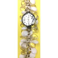 White Fancy Beaded Watches for Girls & Womens