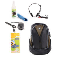 Dell Green Laptop Bag with Free Mouse, Headphone, Cleaning kit and Key Guard