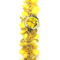 Yellow Fancy Beaded Watches for Girls & Womens