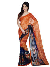 Shonaya Georgette Printed Saree With Unstitched Blouse Piece (Higeo-62010), multicolor