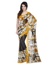 Shonaya Georgette Printed Saree With Unstitched Blouse Piece (Higeo-62007), multicolor