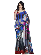 Shonaya Georgette Printed Saree With Unstitched Blouse Piece (Higeo-62006), multicolor