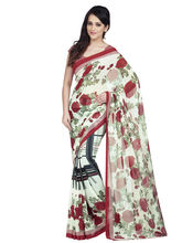 Shonaya Georgette Printed Saree With Unstitched Blouse Piece (Higeo-62009), multicolor