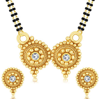 Sukkhi Exquisite Gold Plated Mangalsutra Set For Women