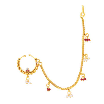 Sukkhi Classic Gold Plated Nose Pin For Women