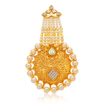 Sukkhi Fascinating Gold Plated AD Passa For Women