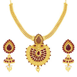 Sukkhi Modern Laxmi Coin Temple Gold Plated Necklace Set For Women