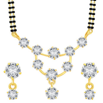 Sukkhi Incredible Gold Plated CZ Mangalsutra Set For Women