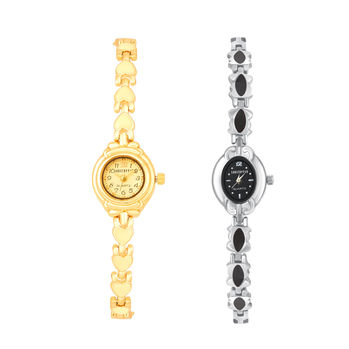 Shostopper Vintage Collection Combo Watches for Womens SJ195WCB