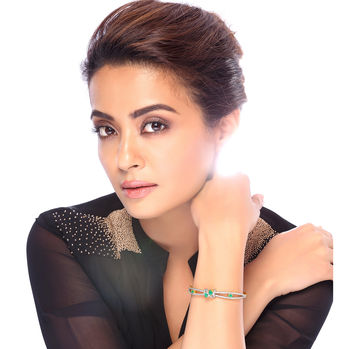 Sukkhi Surveen Chawla Collections Delightful Gold and Rhodium Plated CZ Kada