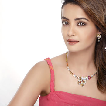 Sukkhi Surveen Chawla Collections Incredible Ruby Studded Gold and Rhodium Plated CZ Necklace Set