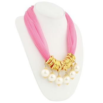 Sukkhi Splendid Gold Plated Scarf Necklace With Chain For Women
