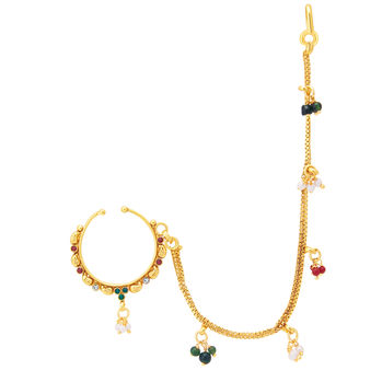 Sukkhi Intricately Gold Plated Nose Pin For Women