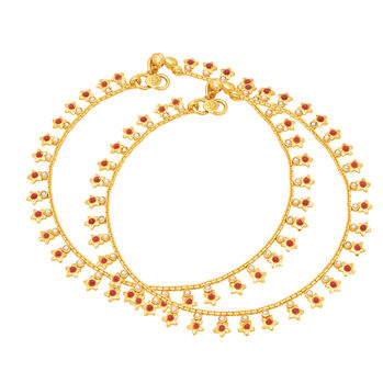 Sukkhi Luxurious Gold Plated Anklet For Women