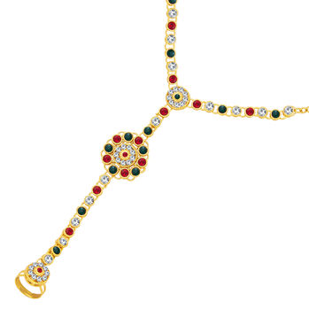 Sukkhi Shimmering Gold Plated AD Hathphool For Women
