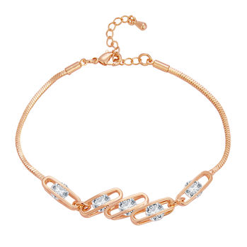 Sukkhi Delightly Solitaire Gold Plated CZ Bracelet For Women