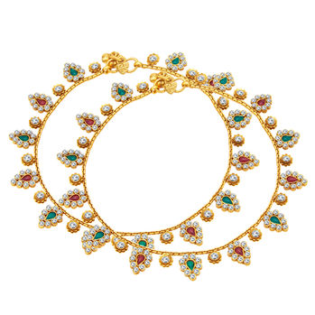 Sukkhi Intricately Gold Plated Anklet For Women