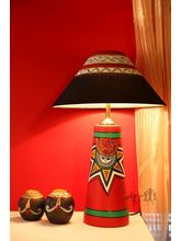Aakriti Arts Handpainted Terracota Red A Shape Lam...