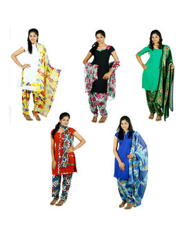 Sindhya 5 Unstitched Churidar Material