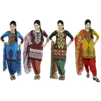 Tamil 4 Set Unstitched Churidar Material