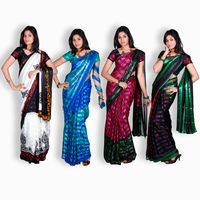 Ananya 4 Pcs Satin Patti Georgette Saree Collection