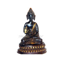 Lord Buddha Black Antique Statue, brass