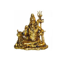 Lord Shiva With Bull Nandi Brass Statue, brass
