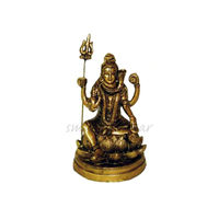 Lord Shiva Brass Antique Statue, brass