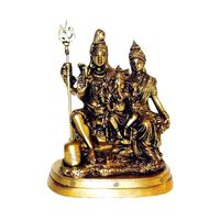 Lord Shiva Parivar Brass Statue Antique, brass