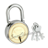 Padlock Double Lock Action 65mm, steel, medium