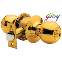Godrej Polished Brass Cylindrical Lock With Key
