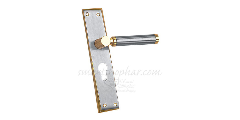 Mortise Handle Casio, 8 inches, gold, brass
