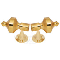Curtain bracket - FAXED, inner dia. 28 mm, gold, brass