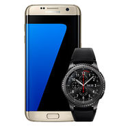 Samsung Galaxy S7 Edge -32GB+ Gear S3 Frontier,  Gold