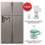 Hitachi Refrigerator RW720PUK Big French, 720L,  Inox