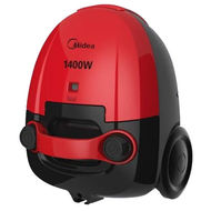 MIDEA CANISTER TYPE VACUUM CLEANER 1400W -VCB32A11S,  Red
