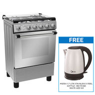 MIDEA 60 x 60 FULL SAFETY GAS COOKER,  STAINLESS STEEL