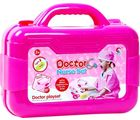 Emob Doctor Play set Light and Sound Effects with Durable Case for Kids, pink