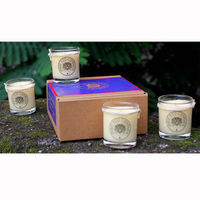 Indie Eco Candles - Set of 4 Small Candles, Assorted Fragrances - 590 Gms, exotic vanilla cream