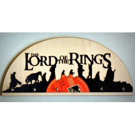 Upcycled Vinyl Record Lord of The Rings Themed Keyholder