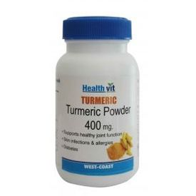 HealthVit Turmeric powder 400 mg 60 Capsules (Pack Of 2)
