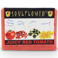 Soulflower Juicy Red Tomato Soap - 150 gms